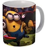 Mugsnyou Minions Ceramic Mug, 325ml, White