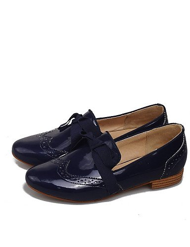ZQ gyht Scarpe Donna-Mocassini-Casual-Comoda / Punta arrotondata-Basso-Finta pelle-Nero / Blu / Bianco , blue-us8 / eu39 / uk6 / cn39 , blue-us8 / eu39 / uk6 / cn39 black-us8 / eu39 / uk6 / cn39