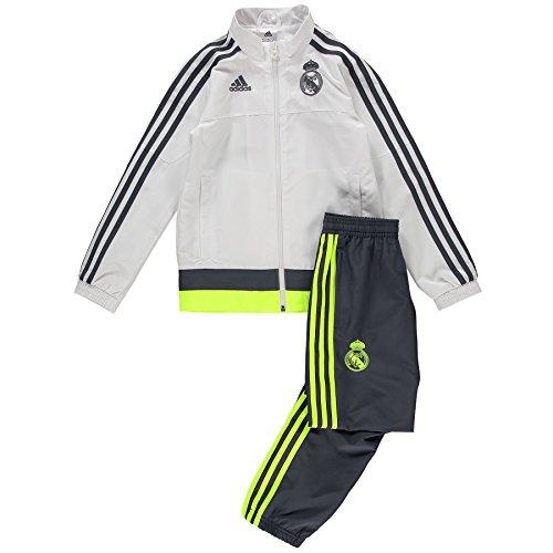 Adidas Real Madrid Presentation Chándal, niño, Blanco/Gris / Lima, 164