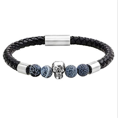 YAOSHI-Bow tie/tie Krawatten und Fliegen für Stilvolle Naturstein Herren Achat Perle Leder Armband Manschette Armreif Kristall Armband Krawatten und Fliegen für (Tanz-armreif)