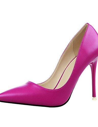 WSS 2016 Chaussures Femme-Décontracté-Noir / Jaune / Rose / Rouge / Gris-Talon Aiguille-Talons-Talons-PU pink-us7.5 / eu38 / uk5.5 / cn38