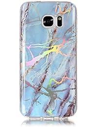 a110c40f1ef934 MoreChioce Compatible avec Coque Galaxy S7 Edge,Coque Compatible avec Samsung  Galaxy S7 Edge Silicone, Jolie Gradient Bleu Clair Bling…