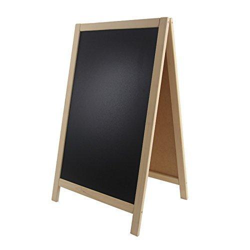 Kundenstopper Holz 93x56cm Tafel Aufsteller Werbetafel Holztafel Werbeaufsteller (natur)