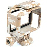 Ozone Camouflage Gopro Hero 6/Hero 5 Protective Frame Mount Stand Housing Case - Brown