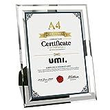 Umi. Essentials A4 Bilderrahmen aus Glas Fotorahmen Dokumente Rahmen