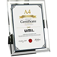 Umi. A4 Photo Frame Classic Glass Certificate Frame 21 x 29.7cm for Tabletop Display