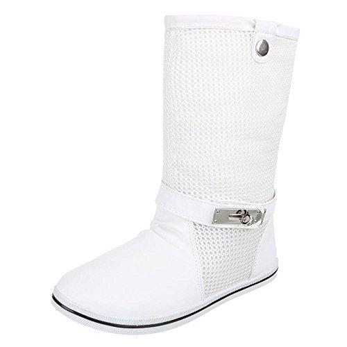 Damen Schuhe, X-19, STIEFEL BOOTS Weiß