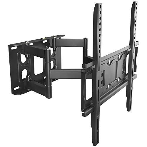RICOO TV Wandhalterung S5244 Universal für 32-65 Zoll (ca. 81-165cm) Schwenkbar Neigbar Wand Halter Aufhängung Fernseh Halterung auch für Curved LCD und LED Fernseher | VESA 200x100 400x400 | Schwarz