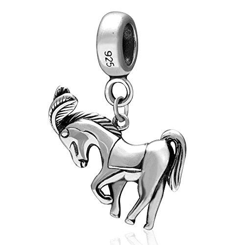 soulbead-anhanger-aus-925-sterlingsilber-pferd-mit-federschmuck-perle-fur-europaische-halskette-oder