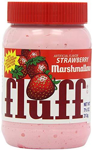 Fluff Marshmallow Strawberry 3er Set, Brot Aufstrich, Brotaufstrich, Schaumzucker, Erdbeer, 213 g, 42671