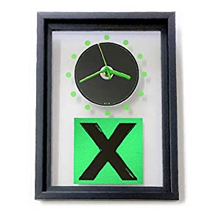 ED SHEERAN - X: GERAHMTE CD-WANDUHR/Exklusives Design
