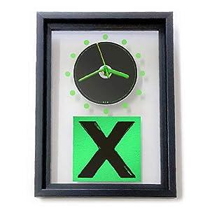 ED SHEERAN – X: GERAHMTE CD-WANDUHR/Exklusives Design