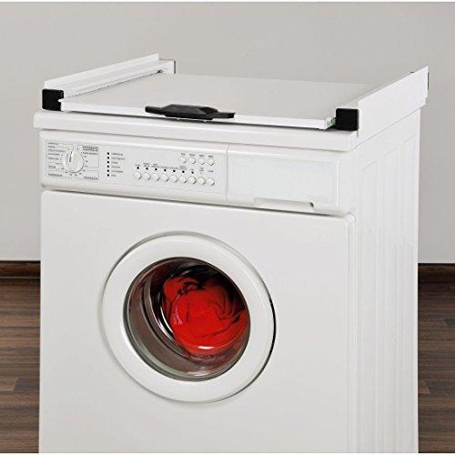 Zwischenbaurahmen Waschsäule für Waschmaschine und Trockner / mit Auszug + Aktion Sicherungs-Zurrgurt mit Klemmschloss für Wäschetrockner, Länge: 6 m FÜR IHRE SICHERHEIT - 2