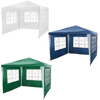 TecTake Pavillon Partyzelt Gartenzelt Eventpavillon 3x3m mit 3 Seitenteile - diverse Farben - von TecTake - Gartenmöbel von Du und Dein Garten