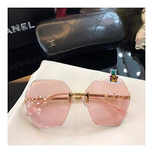 day spring online shop Aviators-Polarized Sunglasses Frameless with Pearl Complete Color for CH5085-pink