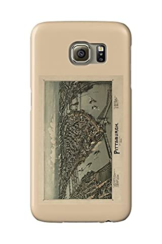 Pittsburgh, Pennsylvania - (1902) - Panoramic Map (Galaxy S6 Cell Phone Case, Slim Barely There)