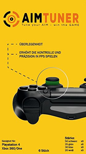 AimTuner 6 Grüne Schaumstoff Ring zur Verbesserung deiner Zielsicherheit PS4 Aim Assistance Stoßdämpfer Zielhilfe Analogstick