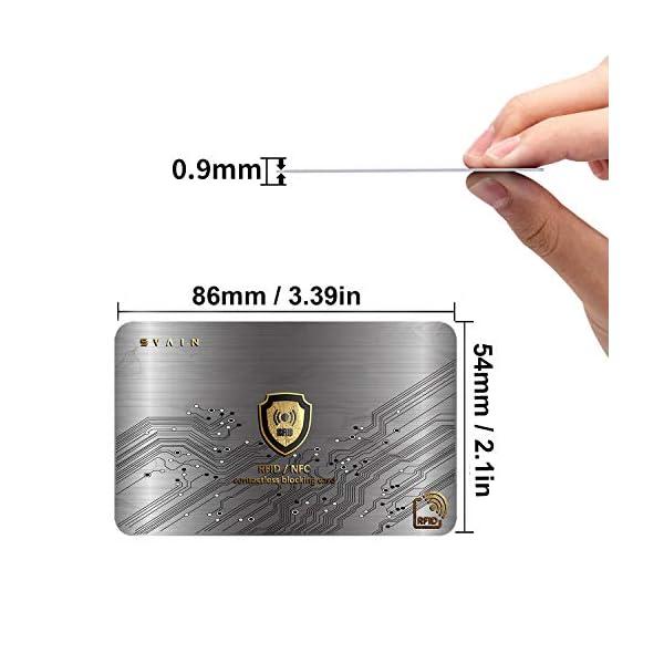Protezione Rfid Carte Di Credito Contactless - Scheda Di Blocco Con Schermatura Rfid e Nfc - Proteggi Bancomat… 4 spesavip
