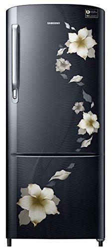Samsung 192 L 3 Star Direct Cool  Refrigerator (RR20M172ZB2/RR20M272ZB2 , Star Flower Black)
