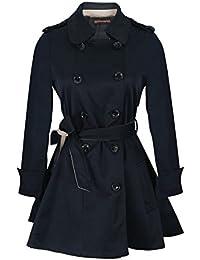 JNTworld Mode Schlank Zweireiher langen Trenchcoat dünne Frau Oberbekleidung
