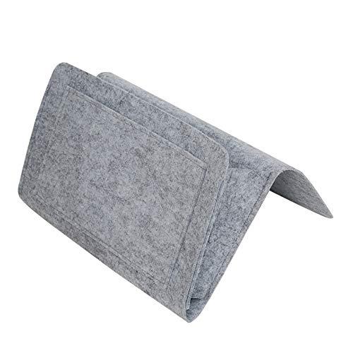 Wfz17 - borsa portaoggetti da appendere al letto, con tasca in feltro, per divano, camera da letto light gray