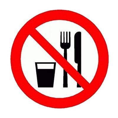 Verbotszeichen Essen und Trinken verboten Kunststff 200 mm