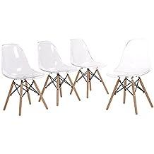 Amazon Fr Chaises Transparentes Chaise De Salle A Manger