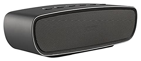 Jam Audio Heavy Metal Stereo Bluetooth Wireless Speaker, 20W Dual Drivers and Passive Bass Radiator for Bold, Crisp Sound, Sleek Aluminium Exterior, Elegant Finish, Connect Wirelessly to any Bluetooth Device, Smartphone, Tablet,