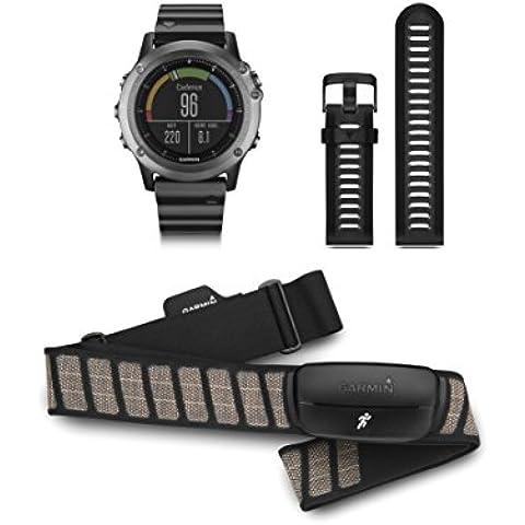 Garmin Fénix 3 HRM - Reloj GPS con pulsómetro HRM-Run, color Rojo