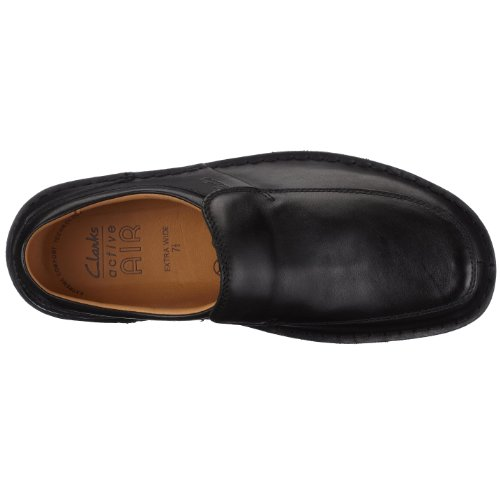 Clarks Sentry Slip 20323604, Mocassini uomo Nero (Black Leather)