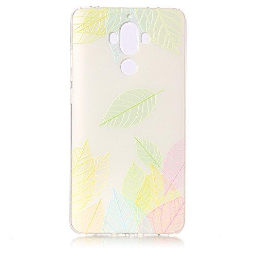 Huawei Mate 9 Hülle [Kratzfeste, Scratch-Resistant], Cozy Hut [Liquid Crystal] Ultra Dünn [Crystal Clear] Sehr Leicht / Perfekte Passform / Durchsichtiges Soft-Case Schutzhülle für Huawei Mate 9 - Baumblatt