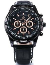 ORKINA YI-WAC14-03-174 - Reloj para hombres, correa de cuero color negro
