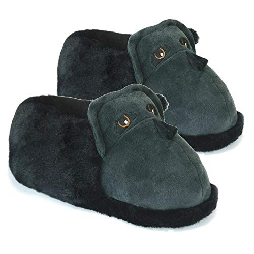 3D Novelty Mens or Boys Comfy Animal Character Slippers