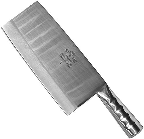 Mam Creations Heavy Duty Stainless Steel Chef's Chopper/Knife/Meat Cleaver 7''/3.5'