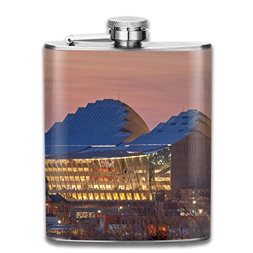 Kansas City Conference Hall Fashion Portable Stainless Steel Hip Flask Whiskey Bottle for Men and Women 7 Oz (City Kansas Tragen)
