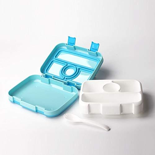 Schüler Box (LIZHIOO Mikrowelle Lunchbox Tragbare Mehrere Grids Bento Box for Schüler Kinder Kinder Geschirr Frischhaltedose (Color : 4 Blue))