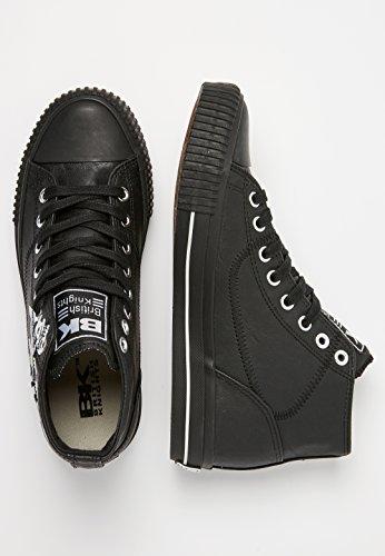 British Knights Slider, Sneaker a Collo Alto Uomo Nero/Bianco