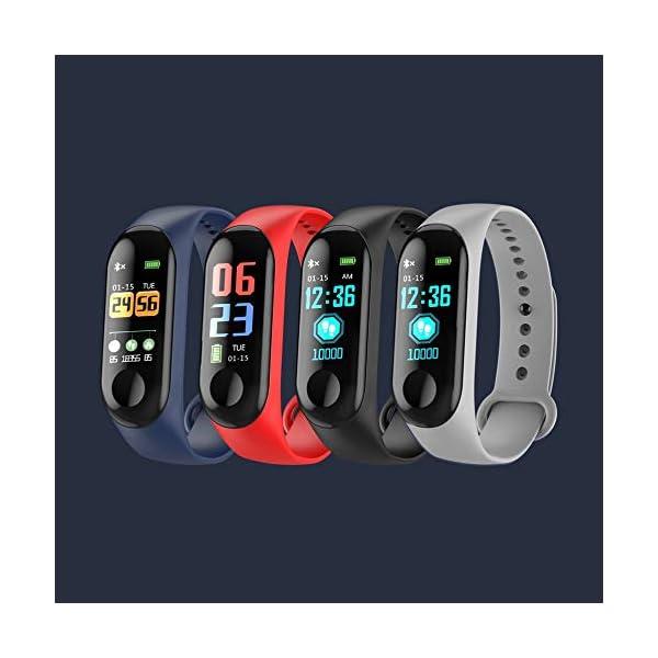 IBISHITAOXUNBAIHUOD Pulsera Inteligente SmartWatch de Pantalla W3 0,96 Pulgadas OLED HD Inteligente Aptitud del Reloj del perseguidor Monitor de Ritmo cardíaco Deportes 4