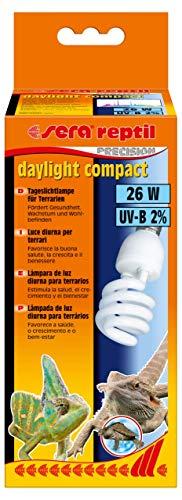 Sera 32018Reptil Daylight Compact/26W 2% UV B la luz Diurna lámpara para terrarios, favorece...