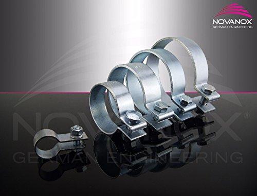 Preisvergleich Produktbild Din 71555 Schelle Ø 82, 5-154, 5 mm V2A Breitbandklemme Schlauch Rohrschelle Verbinder Auspuffschelle Rohr,  Durchmesser:Ø 86.5-89.5 mm / Artikel 10633