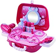 Eookall Kids Makeup Playsets,Simulation Kids Makeup Playsets Case Handbag Pretend Play Make Up Case and Cosmet