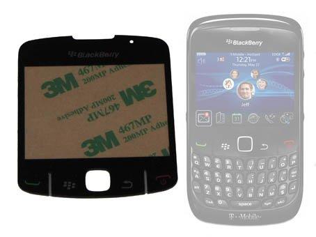 Ersatz-Display / Bildschirm für Blackberry 8520 - zum selbst befestigen - Dieses Set enthält Befestigungsfolie/-kleber mit bereits angebrachten Gummiknöpfchen für den einfachen und schnellen Austausch kaputter oder zerkratzter Displays. - Bildschirm Blackberry 8520