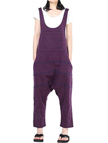 Vogstyle Damen Hosenträger Spielanzug Harem Jumpsuit Hosen L Purpur Art 1 - Wide Leg Cuff Hose