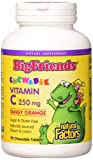 Natural Factors Vitamin C Big Friends Tangy Orange 250 mg Tablets, 90 Chewables