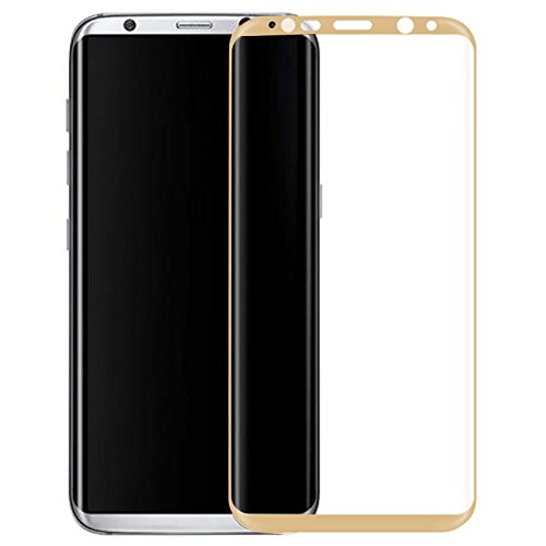 Plus High Quality Edge to Edge Full Screen Coverage Coloured Curved Tempered Glass Screen Protector For Samsung Galaxy Note 8 – Gold