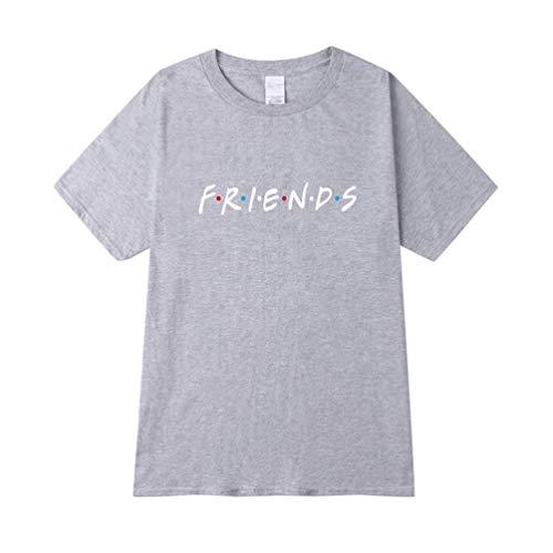 Haobing Unisex Fun T-Shirt, Friends Drucken Casual Sommer Kurzarm Shirts Basic Tee (Grau, CN L)