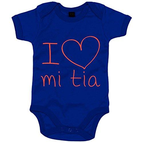 Body bebé I Love mi tía - Azul Royal, 6-12 meses Frase tía