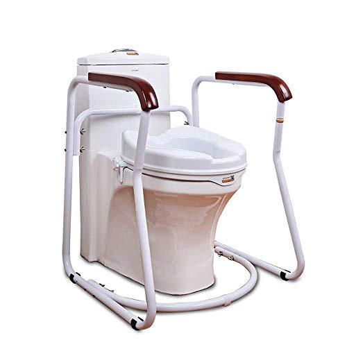 Bad WC Sicherheitsrahmen Reling Sicherheitsrahmen für Seniorentoilette - Standalone-Toilettenschiene für Senioren, Behinderte - gepolsterte Kommode Sicherheitsrahmen Handläufe