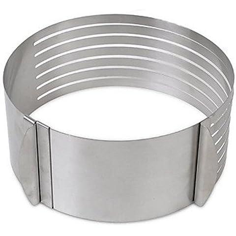 JUNQL anillo de la torta redonda retráctil círculo cortador de la torta del acero inoxidable de la capa de moho kit astilladora de anillo mousse
