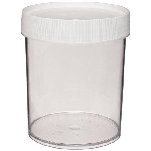 Nalgene 2116–1000Polycarbonat wide-mouth Kaffebecher gerade Jar, 1000ml, klar (4Stück) (Gerade Jar)